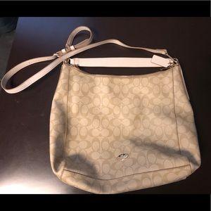 NWOT Coach Cream Crossbody Bag
